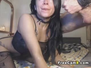 Horny Chick On A Hard And Nasty Face Fuck