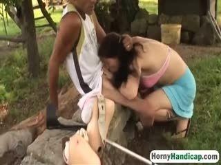 Hornyhandicap 2 9 217 Handicapped Man Gets Lucky Outdoors Hi 3