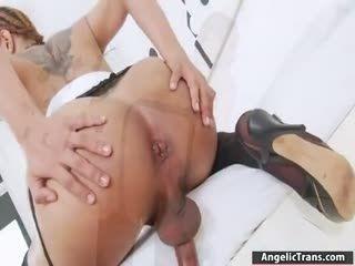 Big Tits Shemale Milk A Masturbates Cock