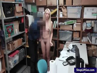 Blondie Shoplifter Railed By LP Officer
