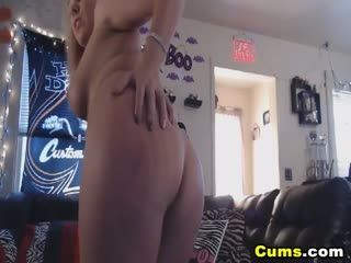 Horny Blonde Babe Squirting For Her Viewers