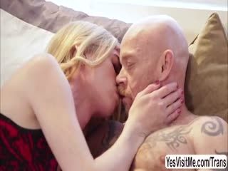 Transgirl Mandy Mitchell Licks And Fingers Transman Buck Angel Pussy