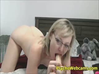 Hairy Sexy MILF Pounding Her Pussy And Sucking Her Feet