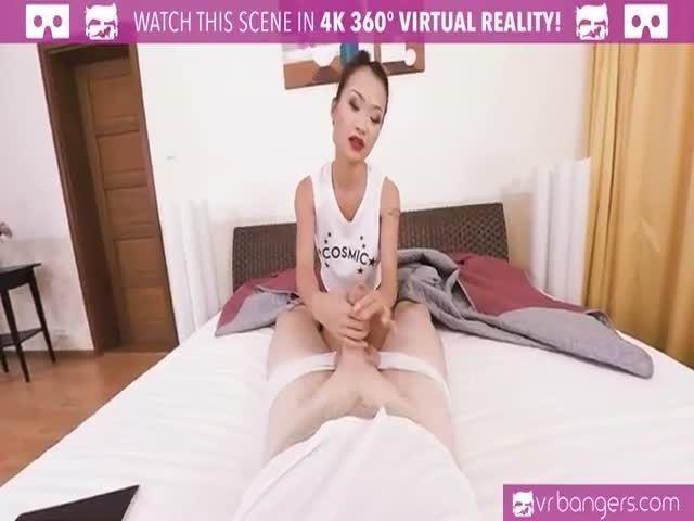 image Vr cumshot and big tits giving blowjob