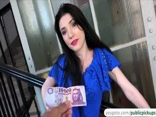 Sexy Babe Mia Evans Fucks A Horny Dudes Cock For Money