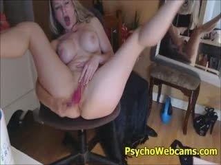 Horny Busty MILF Goes Psycho On Her Sex Toy