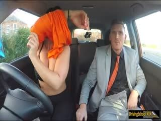 Big Juggs Examinee Smashed In The Car