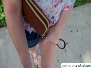 Haven Rae Flashes Small Tits To A Stranger For Money