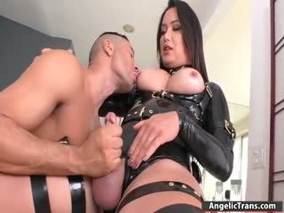 Huge Tits TS Bianka Nascimento Fucks Man