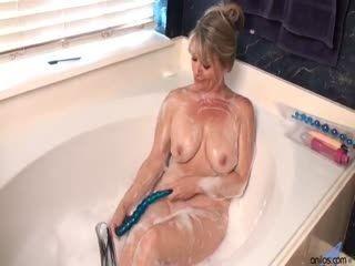 Bobbie Jones She Likes Toys - Mature Amateur Solo Masturbation Striptease