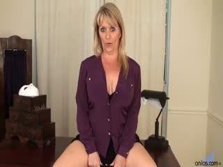 Bobbie Jones Big Tit Boss Lady - Mature Amateur Solo Masturbation Striptease