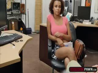 Beautiful Ebony Raven Redmond Sucks Shawns Cock For Money