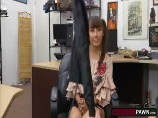 Slutty Asian Tiffany Rain Fucks In The Office For Money