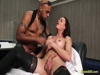 Shemale Amanda Ferreira Interracial Anal