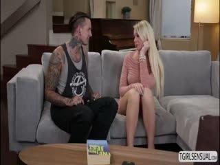 Ts Slut Blonde Aubrey Kate Loves A Deep Anal Pounding