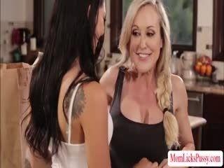 Scandalous Gina And MILF Brandi Cherishes 69 Pussy Sucking