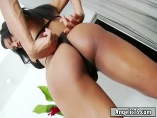 Busty Thai Tgirl Ploy Shows Off Her Body