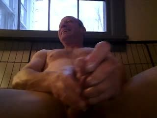 Stroking My Lubed Cock
