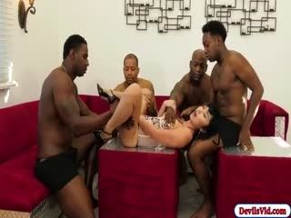 Asian Marica Fucked By 4 Black Dicks