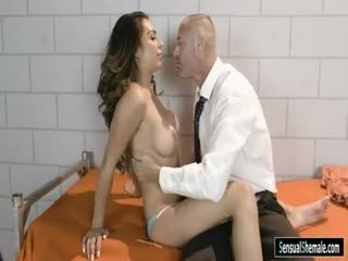 Sexy TS Fucked By Attorney In The Jail