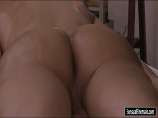 Busty TS Received Massage And Ass Fucked