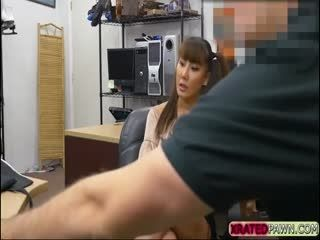 Fine Asian Tiffany Rain Blows A Pawnmans Cock In The Office