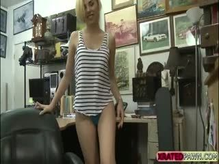 Desperate Petite Teen Bangs The Pawn Owner In His Office