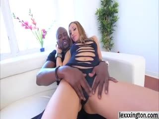 Tan Skinned Babe Moka Mora Rides A Big Black Cock