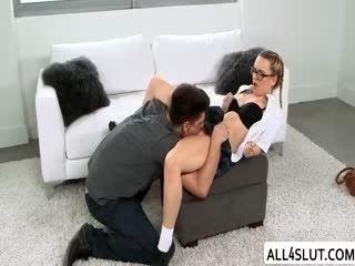 Dude Fucks Teen Haley And MILF Alena In A Wild Threesome