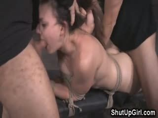 Bound Teen Brutally Dominated!