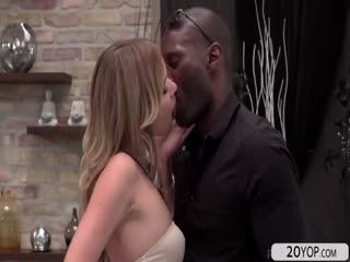 Hot Slut Angel Loves An Interracial Anal Fuck