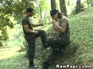 Jeorge Goes Bareback With Hot Military Guy
