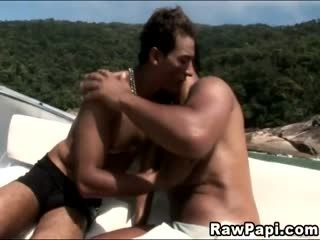 Latino Hardcore Cock Riding On A Boat