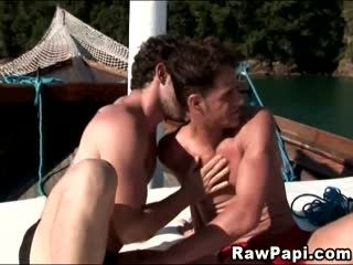 Hot Gay Dude Barebacked And Cum On Boat After Blowjob