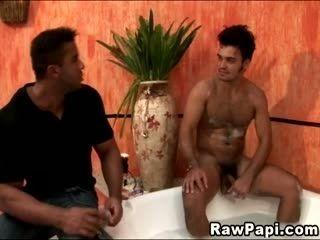 Buff Brown Papi Barebacked On Bathtub