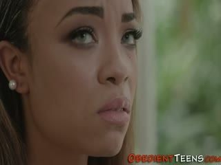 Ebony Teenager Harshly Rammed