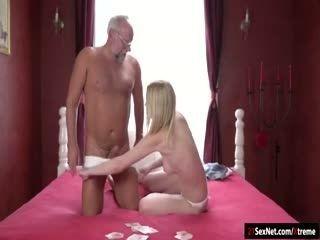 Koko Amaris Play Strippoker With Old Guy