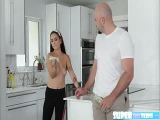 Petite Mi Ha Doan Gets Fucked In The Kitchen For Money