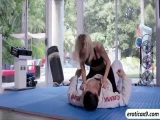 Sexy Blonde Emma Hix Fucks Her Trainers Cock
