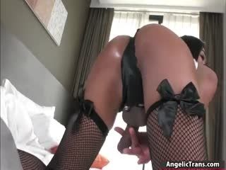 Asian TS Toying Her Tigh Ass Hole