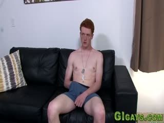 Ginger Soldier Jerks Cock