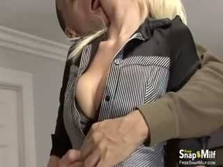 Milf Moans Loudly While Getting Her Twat Fucked And Creampied.