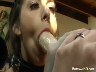 Horny Sluts Are Seen Giving Blowjobs To Fake Dicks