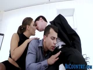 Bisexual Hunk Fucks Slut