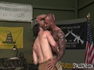 Muscled Black Guy Fucked