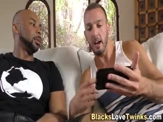 Black Man Cums On Gay Guy
