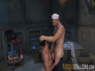 Ripped Navy Hunk Fucking