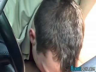 Gay Twink Banged Over Car