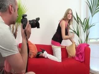 Sexy Big Tit Blonde Fucked During Casting