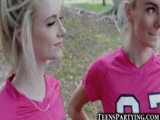 Soccer Teen Girls Take Facials!